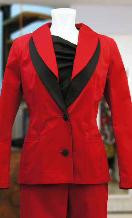 Jacket with two lapels